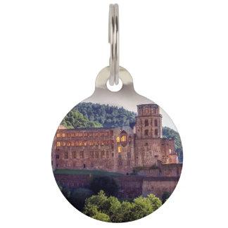 Famous castle ruins, Heidelberg, Germany Pet ID Tag