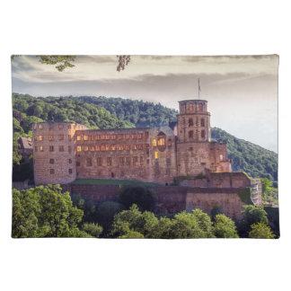 Famous castle ruins, Heidelberg, Germany Placemat