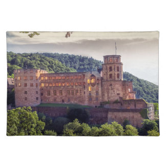 Famous castle ruins, Heidelberg, Germany Placemats