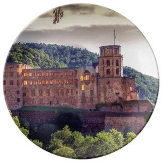 Famous castle ruins, Heidelberg, Germany Plate