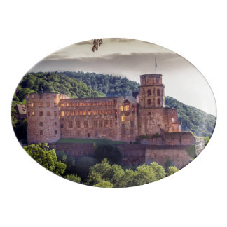Famous castle ruins, Heidelberg, Germany Porcelain Serving Platter