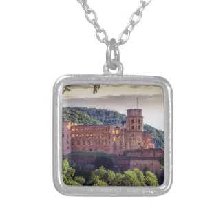 Famous castle ruins, Heidelberg, Germany Silver Plated Necklace