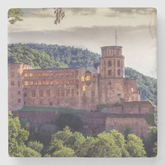 Famous castle ruins, Heidelberg, Germany Stone Coaster