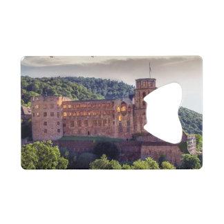 Famous castle ruins, Heidelberg, Germany Wallet Bottle Opener
