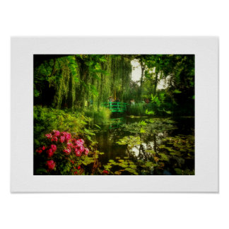 Famous Claude Monet Giverny Lilies Pond Poster