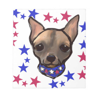 FAMOUS CLIFF 4TH OF JULY NOTEPAD