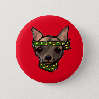 FAMOUS CLIFF BANDIT 2 INCH ROUND BUTTON