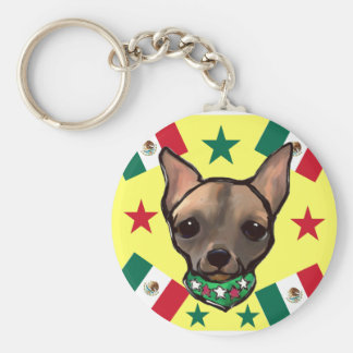 FAMOUS CLIFF CINCO DE MAYO BASIC ROUND BUTTON KEYCHAIN