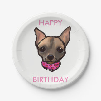 FAMOUS CLIFF HAPPY BIRTHDAY PAPER PLATES 7 INCH PAPER PLATE