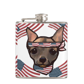 FAMOUS CLIFF PATRIOT WHISKEY FLASK