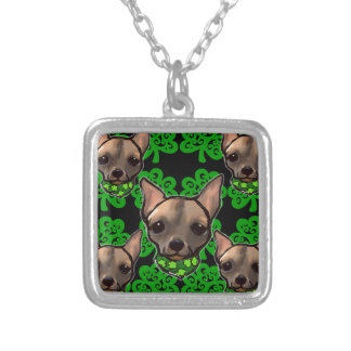 FAMOUS CLIFF ST PATTYS DAY 2 SILVER PLATED NECKLACE