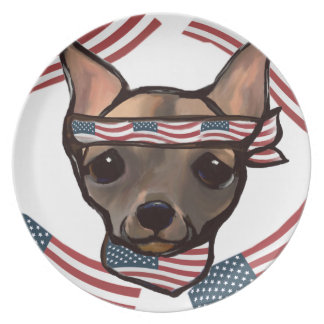 FAMOUS CLIFF USA DINNER PLATE