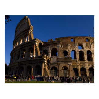 Famous Colosseum in Rome Italy Landmark Postcard