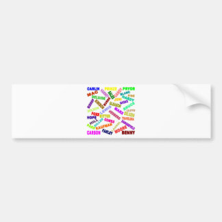 Famous Comedian Collage Car Bumper Sticker