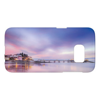 Famous Cromer pier in Norfolk UK with pink sky Samsung Galaxy S7 Case