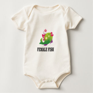 famous female fish baby bodysuit