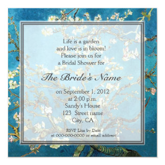Famous fine art  bridal shower party card