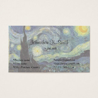 Famous fine art  Starry Night Business Card