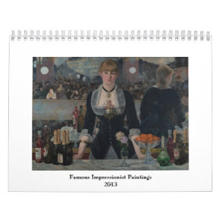 Famous Impressionist Paintings 2013 Wall Calendar