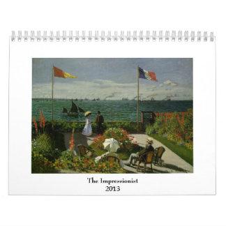 Famous Impressionist Paintings 2013 Calendars