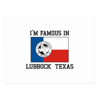 Famous In Lubbock Postcard