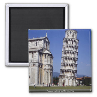 Famous inclined bell tower, the Leaning Tower of P Magnet