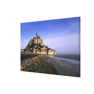 Famous Le Mont St. Michel Island Fortress in Canvas Print