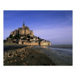 Famous Le Mont St. Michel Island Fortress in Poster