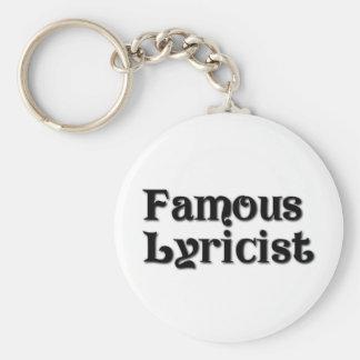 Famous Lyricist Keychain