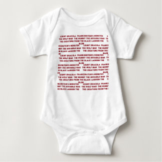 FAMOUS MONSTERS BABY OUTFIT BABY BODYSUIT