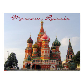 Famous Moscow St. Basil's Cathedrale Postcard