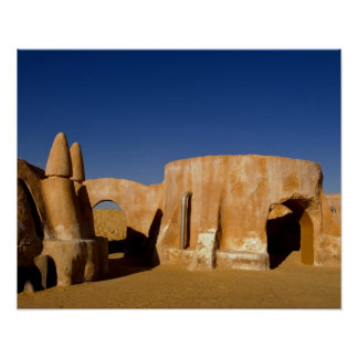 Famous movie set of Star Wars movies in Sahara Poster