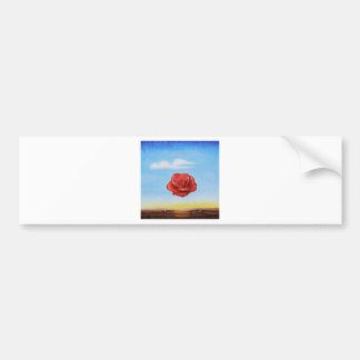 famous paint surrealist rose from spain bumper sticker