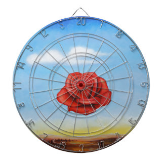 famous paint surrealist rose from spain dartboard