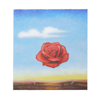 famous paint surrealist rose from spain notepad
