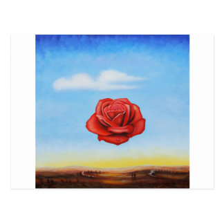 famous paint surrealist rose from spain postcard
