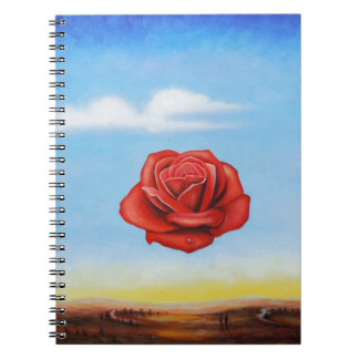 famous paint surrealist rose from spain spiral note books