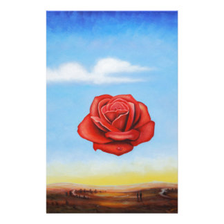famous paint surrealist rose from spain stationery