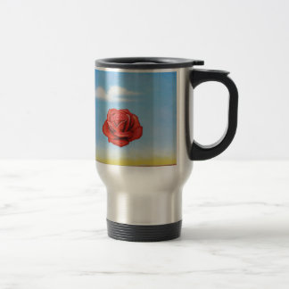 famous paint surrealist rose from spain travel mug