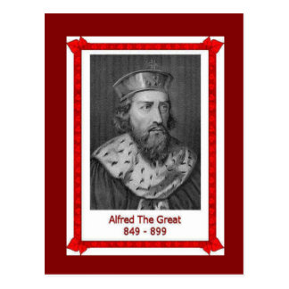 Famous people, King Alfred the Great 849-899 Postcard