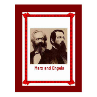 Famous people, Marx and Engels Postcard