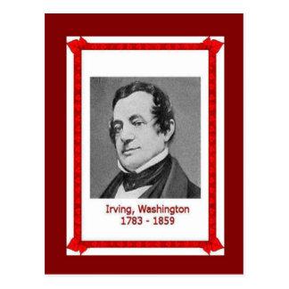 Famous people, Washington Irving 1783-1859 Postcard