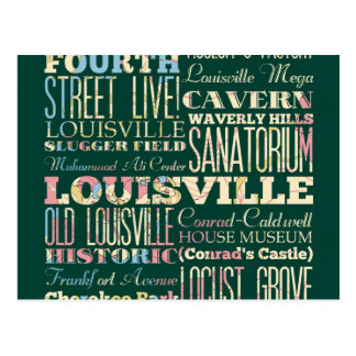 Famous Places of Louisville, Kentucky. Postcard