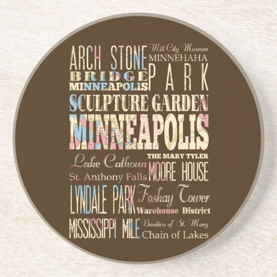 Famous Places of Minneapolis, Minnesota. Coaster