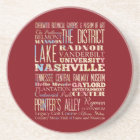 Famous Places of Nashville, Tennessee. Coaster