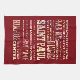 Famous Places of Saint Paul, Minnesota. Kitchen Towel