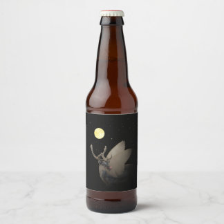 Famous & Rich, blank Beer Bottle Label