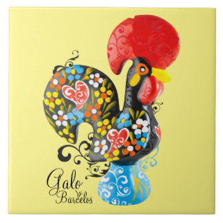 Famous Rooster of Barcelos #06 - Floral edition Tile
