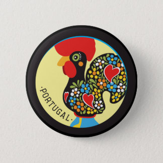 Famous Rooster of Barcelos Nr 06 2 Inch Round Button