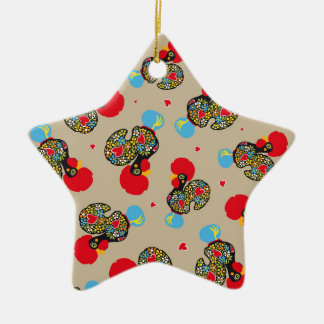 Famous Rooster of Barcelos Nr 06 Pattern Ceramic Star Ornament